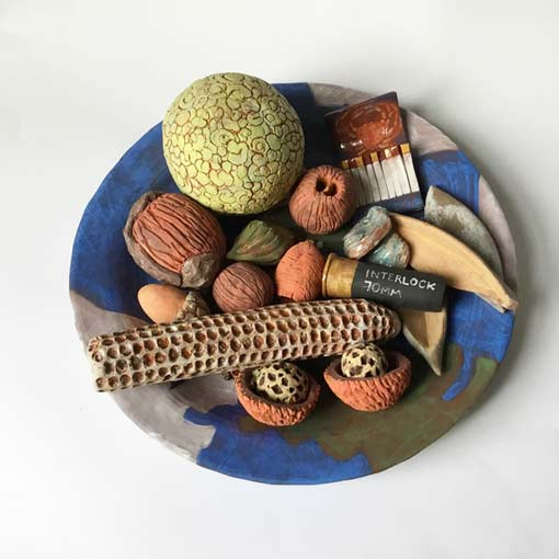 Walk on Wye Island ceramic plate